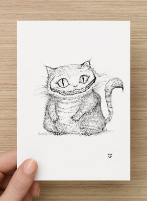 "Carte postale ""Chat de Cheshire"""